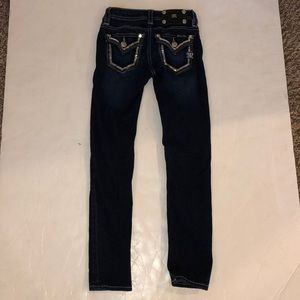Miss me Girls Dark Washed Skinny Jeans
